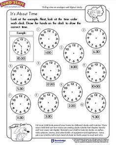 telling time worksheet download education world kindergarten math worksheets free math worksheets