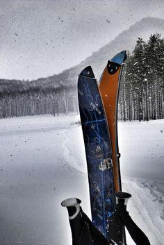 Split-boarding Shiribetsudake, Hokkaido, Japan. #splitboard #backcountry #snowboard