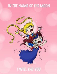 Sailor Moon vs Beryl lol