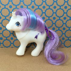 A personal favorite from my Etsy shop https://www.etsy.com/listing/468968829/vintage-g1-mlp-my-little-pony-baby-glory