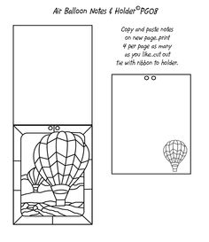 Balloon notes and holder template I made