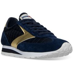 Brooks Women's Vanguard Heritage Casual Sneakers from Finish Line ($75) ❤ liked on Polyvore featuring shoes, sneakers, brooks footwear, brooks shoes, brooks trainers and brooks sneakers