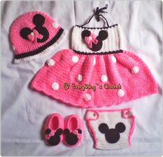 crochet minnie mouse dress set project on Craftsy.com Too cute!