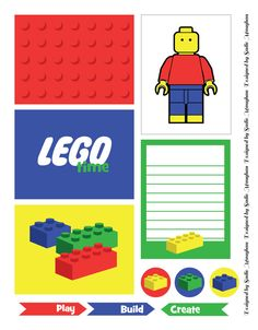 As per requested ! Lego Time Project Life Printable Freebie