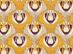 Koloman Moser pattern from Turn of the Century Viennese Patterns & Designs Textiles, Textile Patterns, Print Patterns, Art Deco, Koloman Moser, Art Nouveau Pattern, Vienna Secession, Old Wallpaper, Surface Pattern