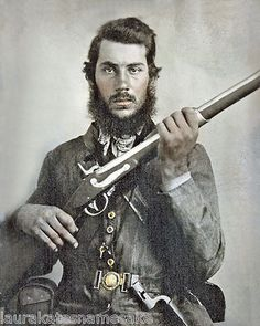 Confederate Soldier J B White of Tennessee- note the Tenn. buckle