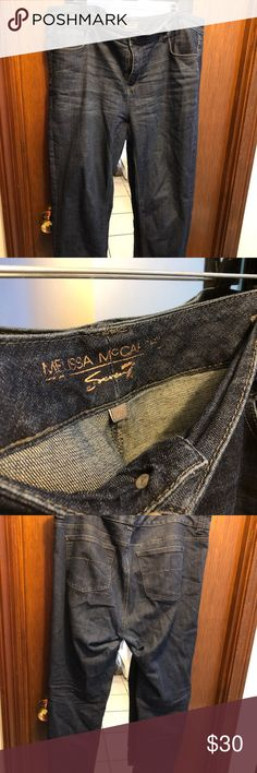 Melissa McCarthy Seven7 Jeans Size 20 Gently worn Size 20 Melissa McCarthy Seven7 jeans. Straight leg, dark wash. No visible wear in thighs, great condition! Melissa McCarthy Seven7 Jeans Skinny