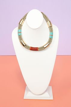 Salaka Rope Necklace, gold and cord-wrapped rope