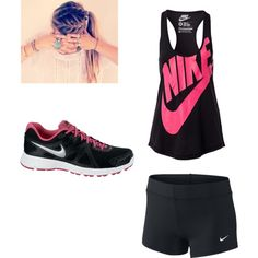 """""""Cute Running Outfit :)"""" by ayeeitsfaith on Polyvore http://www.polyvore.com/cute_running_outfit/set?id=114459376"""