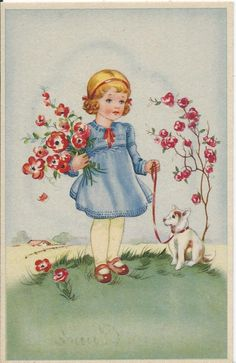 Fabric Pictures, Old Pictures, Vintage Ephemera, Vintage Paper, Vintage Girls, Vintage Children, Vintage Postcards, Vintage Images, Miniature Quilts