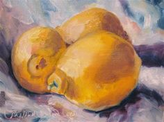 """Lemons"" - Original Fine Art for Sale - © Susan E Jones"