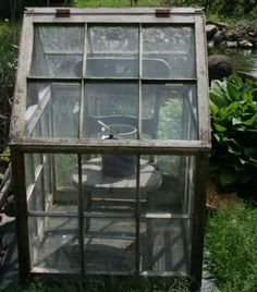 Image result for how to make a greenhouse out of old windows