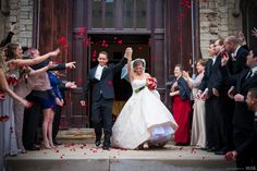 Happy bride and groom exit ceremony with red rose petals #Michiganwedding #Chicagowedding #MikeStaffProductions #wedding #reception #weddingphotography #weddingdj #weddingvideography #wedding #photos #wedding #pictures #ideas #planning #DJ #photography #ceremony