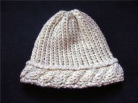 rostitchery: cabled hat on the knifty knitter