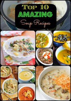 """Fall Soup Recipes - here are a few of the """"good"""" recipes to try!"""