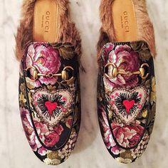 e8df2934e PUSHING BUTTONS Shoe Closet, Shoe Game, Gucci Shoes, Gucci Fur Loafers,  Shoes