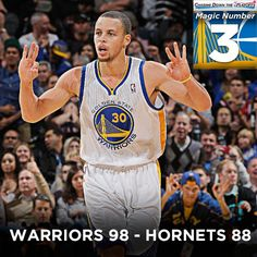 With tonights win over New Orleans, the #Warriors magic number to clinch a postseason berth is now 3. Full info at warriors.com/playoffpush