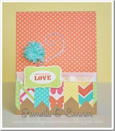 CTMH Dotty for You Banner Card by Pamela O'Connor
