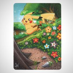 [OC] Took my first shot at doing an altered Pokemon card. (Furious Fists Pikachu 27/111)