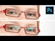(166) Remove Glare From Glasses Without Replacing or Cloning in Photoshop - YouTube
