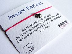 2 x Elephant Friendship Bracelet pair - Elephant bracelet bridesmaid Gift - Wedding Favour