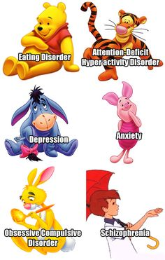 This shows that no one is perfect! Not even Winne the Pooh charaters!