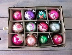 Vintage Shiny Brite Ornaments in Original Box Set of by 22BayRoad, $68.00