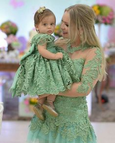 - Mom and Baby Mommy Daughter Dresses, Mother Daughter Matching Outfits, Mother Daughter Fashion, Mommy And Me Outfits, Mom Dress, Family Outfits, Mom Daughter, Baby Dress, Kids Outfits