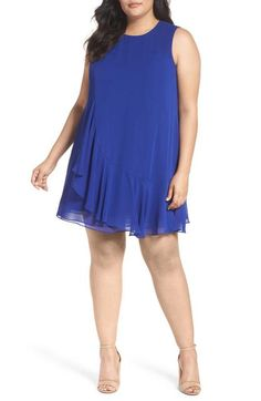 Ruffled A-Line Dress (Plus Size) by Eliza J