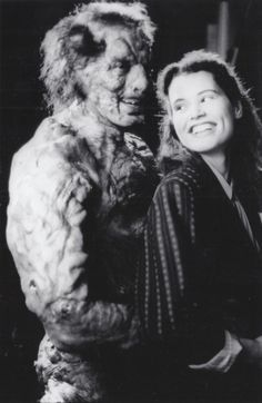 "Jeff Goldblum and Geena Davis in ""The Fly"""