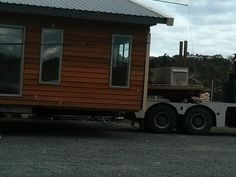 Cedar home on truck Transportable Home Prefabricated Homes Whangarei House Movers