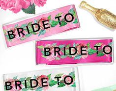Bride Sash - Bride Gift, Floral Bride Sash, Peony Bachelorette Sash, Rose Bridal Shower Sash, Engagement Sash with Flowers, Bridal Sash