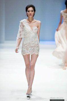 haute couture crochet  | Zhang jingjing spring summer 2013 haute couture | Crochet Bikini top