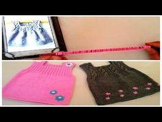 Bebek elbisesi nasıl örülür - 1 - YouTube