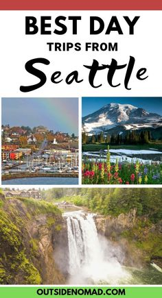 Take a break from the hectic city and immerse yourself is some of the Northwest's most cherished destinations. These stunning day trips from Seattle are a must see. Seattle Ferry, Downtown Seattle, Free Travel, Travel Usa, Budget Travel, Travel Ideas, Travel Tips, Day Trips From Seattle, Seattle Vacation