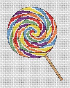Lollipop counted cross stitch pattern by ClimbingGoatDesigns