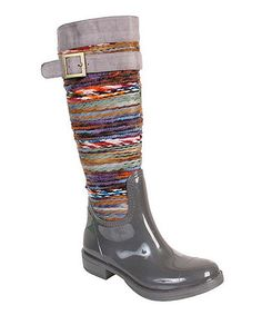 Loving this Gray Chopper Rain Boot on #zulily! #zulilyfinds
