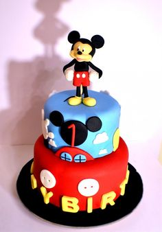 Mickey Mouse Clubhouse Cake Fondant Disney