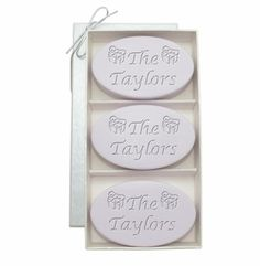 Monogram Carved Christmas Soap  - Lavender - So pretty you won't want to use it but so refreshing you just might have to do so!!