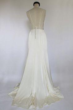 SAMPLE SALE wedding dress Boho wedding dress Satin dress