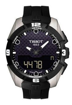 Reloj Tissot T-Touch Expert solar para hombre en titanio y correa de silicona negra T091_420_47_051_00