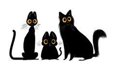 Anna Renee: @Sketch_Dailies CATS! #NationalCatDay #BlackCAT