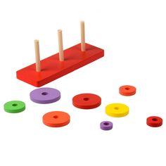 Bambini Giocattoli di Legno Educativi per bambini In Legno Massello Impilabile Bambino Blocchi di Bambini Giocattolo Apprendimento Regalo Promozionale