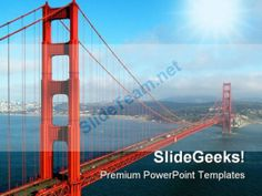 Golden Gate Bridge Transportation PowerPoint Background And Template 1210 #PowerPoint #Templates #Themes #Background