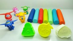 Super Wings Planes Toys Transformers Cars Play Doh Video for Kids