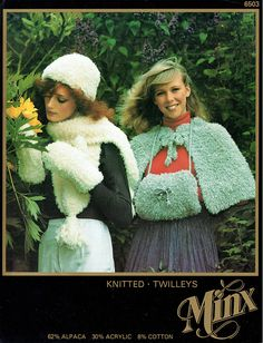 PDF 1970s Womens Ladies Cape & Muff Knitting Pattern Twilleys Easy Knitting, Knitting Patterns, Crochet Patterns, Knit Crochet, Crochet Hats, Hippie Chick, Capes For Women, Cardigan Pattern, Vintage Knitting
