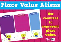 Place Value Aliens - Blank