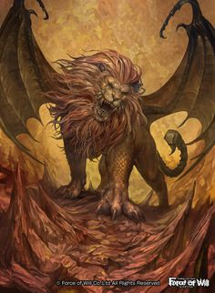 This is a manticore, but who cares. Manticore by douzen on DeviantArt Fantasy Dragon, Fantasy Rpg, Magical Creatures, Fantasy Creatures, Art Steampunk, Manticore, Fantasy Beasts, Legends And Myths, Legendary Creature
