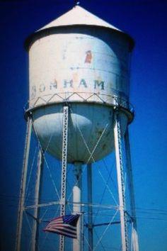 Bonham Texas Water Tower.
