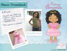 Princesa Amanda: Boneca baseada em foto.